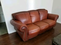 brown leather 2-seat sofa Laval, H7M
