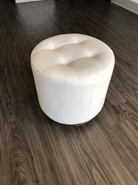 All white ottoman chair