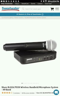 Shure wireless mic with gig bag Capitol Heights, 20743