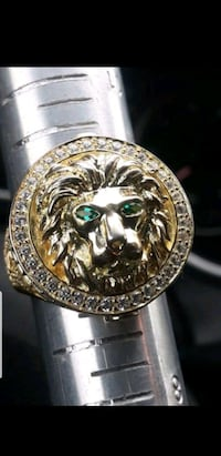 sterling Cz lion ring