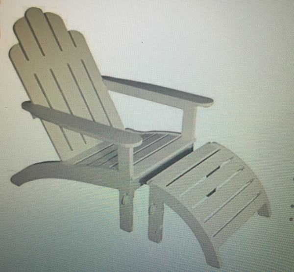 Astounding Enduralast Outdoor Adirondack Chair Ottoman Gmtry Best Dining Table And Chair Ideas Images Gmtryco