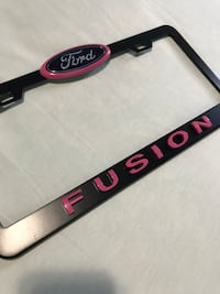 Ford Fusion license plate frame. Joliet, 60436