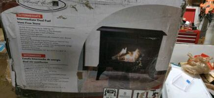 Pleasant Hearth dual fuel stove, dual burner
