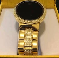 Brand New with Original Box 14K Gold Plated Digital Touch Screen Watch