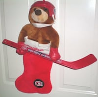 Vintage 1990s NHL Montreal Canadiens Hockey Bear Christmas Stocking  London