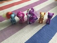 five My Little Pony figurine lot