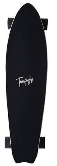 Longboard with lion graphics