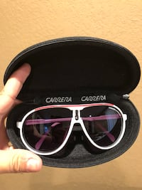 white framed sunglasses with case Tracy, 95376