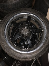 "17"" Rims and tires 4 lug universal"