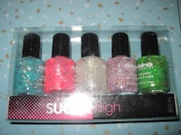 Brand New Set of Sparkle Glitter Bling Bling Nail Polish by Claire's Winnipeg