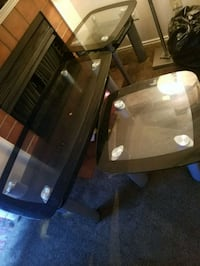 black and white glass table Texas