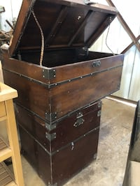 brown wooden dresser with mirror 1692 mi