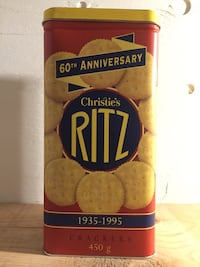 Ritz Crackers Collector Tin. Perfect for storing Holiday cookies.