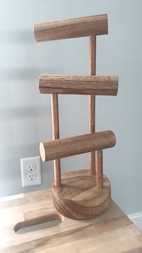 Brown wooden jewelry holder for necklaces and bracelets  Somerville, 02143