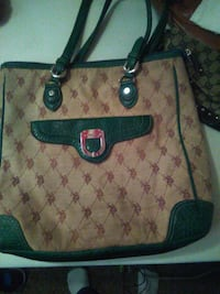 monogrammed brown and black Gucci leather tote bag Austin, 78758