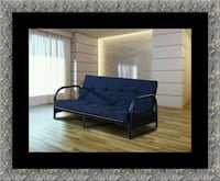 Black futon frame with mattress McLean