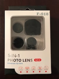 Brand New 5 in 1 Photo Lenses for iPhone only (Recommended for Pro's) Cambridge, N1R 7B6
