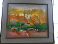 """Painting. framed and signed by """"lisa"""""""