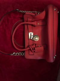 Red leather michael kors 2-way bag Theodore, 36582