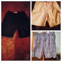 3 pair mens cargo shorts black 36 cackie plaid 34 Springfield, 45503