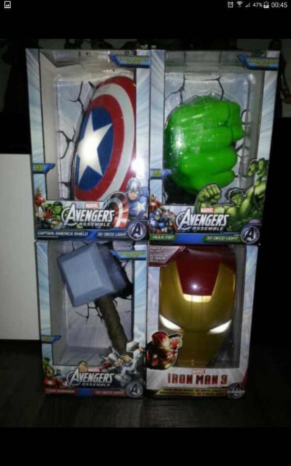 Used 3D Wall Art Deco light FX Marvel Avengers for sale in Singapore ...