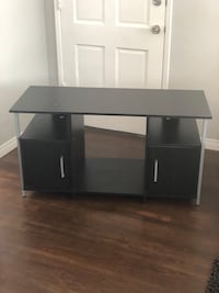 Black wooden tv stand with metal trim San Diego, 92037