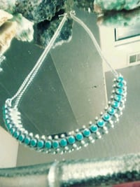 teal and white beaded necklace Prescott, 86301