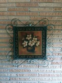 painting of white flowers with black steel frame Victoria, 77901
