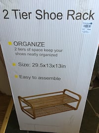 Wooden shoe rack (NIB) Frederick, 21701