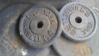 two black and gray steel dumbbells Toronto, M6H 1E5