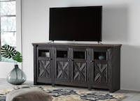 Tyler Creek Black/Gray Extra Large TV Stand Woodbine, 21797