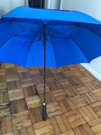 Automatic 62 Inch Blue Umbrella with Carrying Strap
