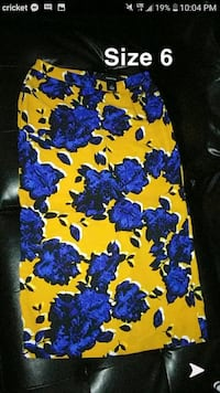 skirt size 6 South Bend