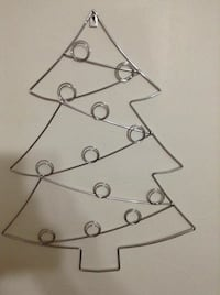 gray stainless steel christmas tree wall decor