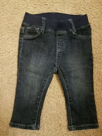 blue denim straight-cut jeans Toronto, M9V 3J4