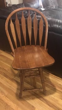 brown wooden windsor armless chair Farwell, 79325
