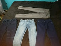 two blue and black denim jeans Brampton, L6R 3K2