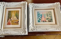 2 1950's Christmas Art Framed in Large Carved Deep Solid Wood Frames! North Las Vegas, 89081