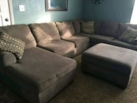 gray suede 3-seat sofa Plainfield, 46168
