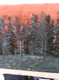 """painting """"Red Forest"""" 963 mi"""