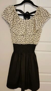 New black/cream polka dot dress Calgary, T3N 0E4