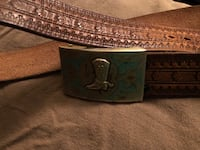 Leather Belt Turquoise Belt Buckle Wayzata, 55391