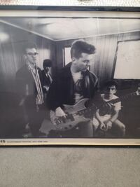 Smiths  poster SIGNED by Andy Rourke