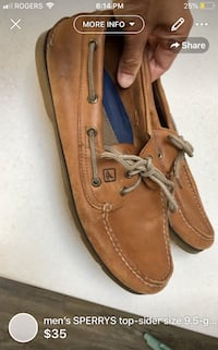 men's SPERRYS top-sider size 9.5-gently used CLEANED ** London, N5W 1E8