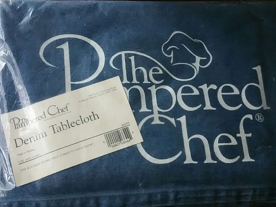 Pampered Chef Denim Tablecloth