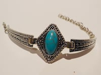 Brand New • Vintage Tibetan Silver Plated Bracelet with charming stone  • Weight: 20g • Lenght: 20CM (7.8 inches) • null, N14 6DA