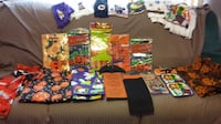 New and used Halloween tablecothes, hand towels and pot holders. LEVITTOWN