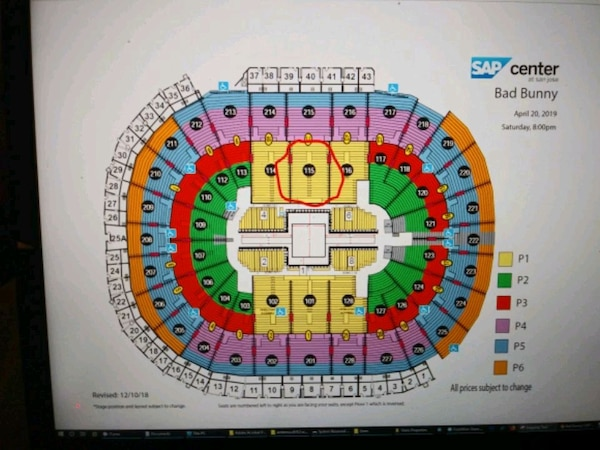 40bd10a8 Used BAD BUNNY TOUR TICKETS SAP CENTER SAN JOSE for sale in San Jose ...