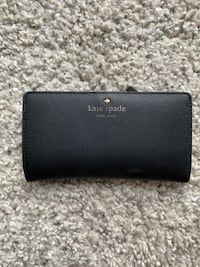Kate Spade Women's Large Slim Eva Black Bifold Wallet