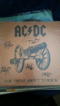 AC~DC signed For Those About to Rock record 89520, 89520